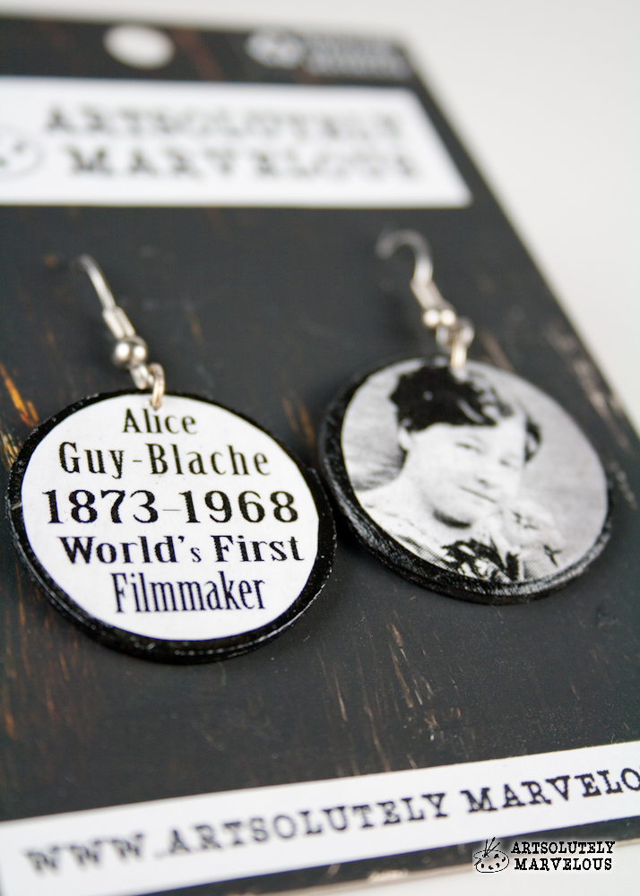 Alice Guy Blache First Filmmaker Handmade Earrings – $14.99