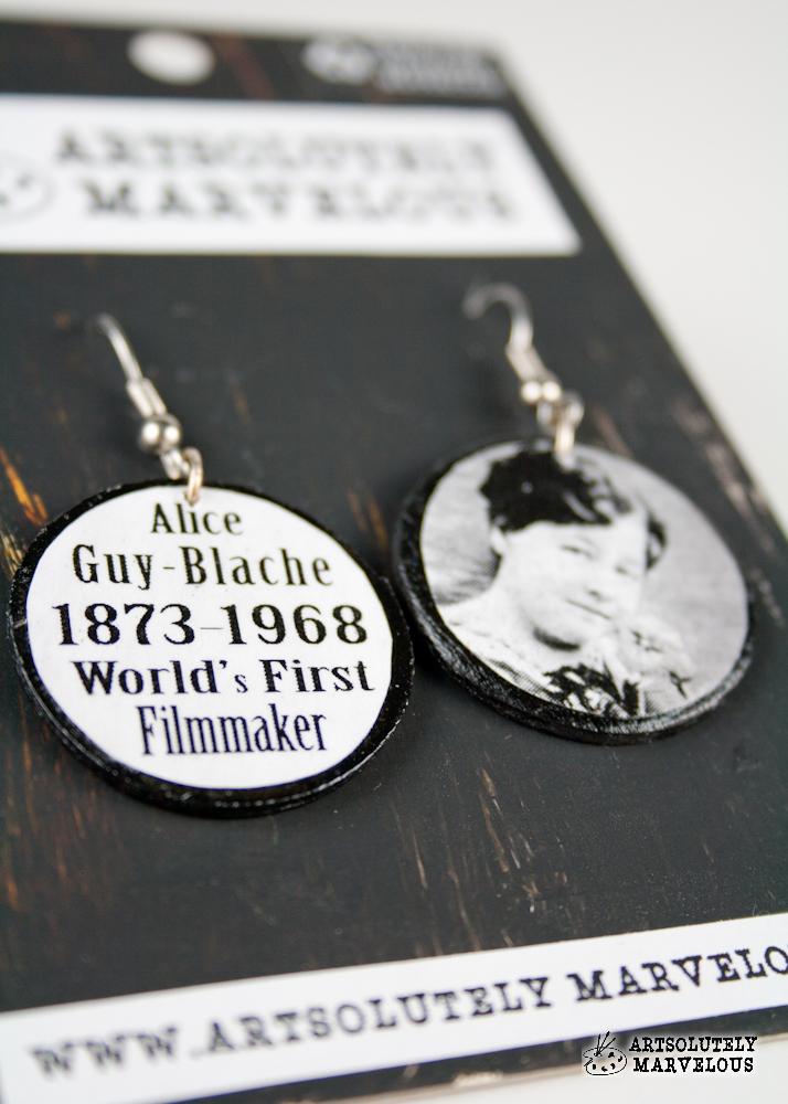 Alice Guy Blache First Filmmaker Handmade Earrings – $14.99