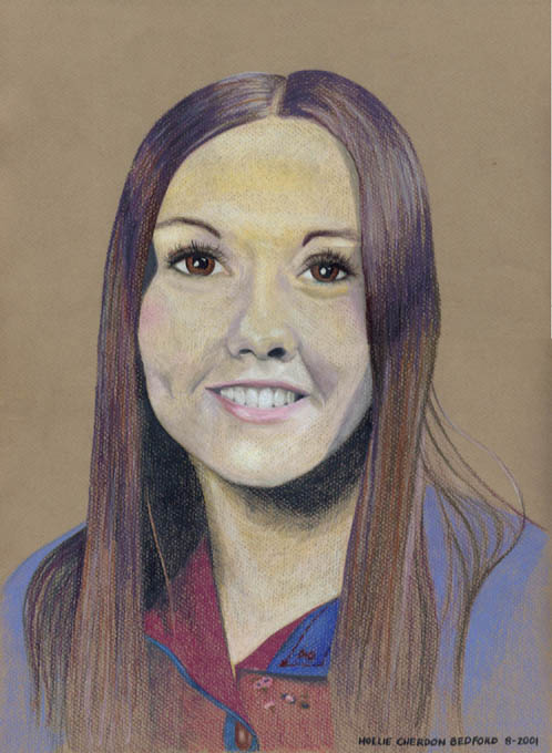 Lady Wrangler Colored Pencil Portrait Drawing