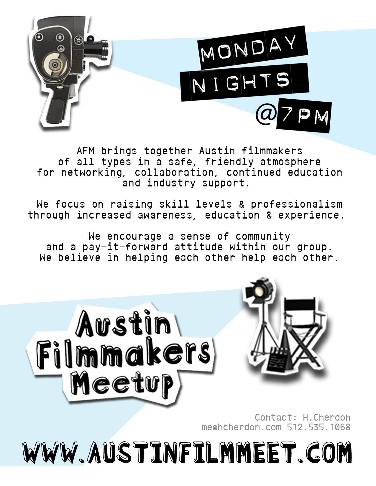 Austin Film Meet Event Flyer