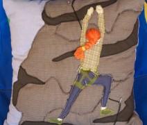 Rockclimber Handmade Pillow