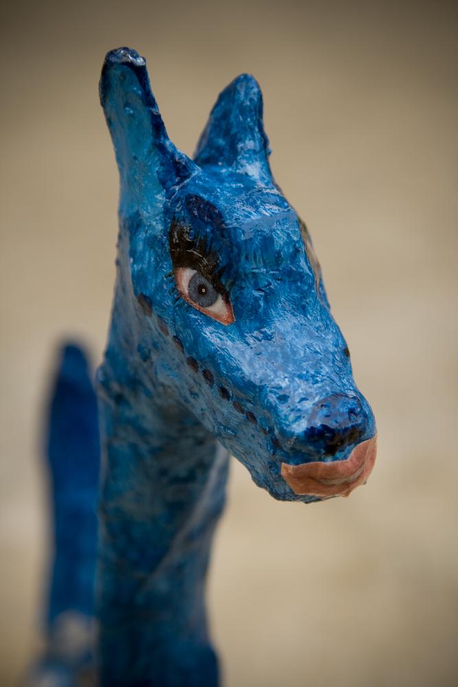 Paper Mache Art Dogs