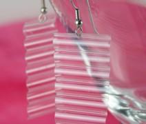 Clear Wave Handmade Earrings