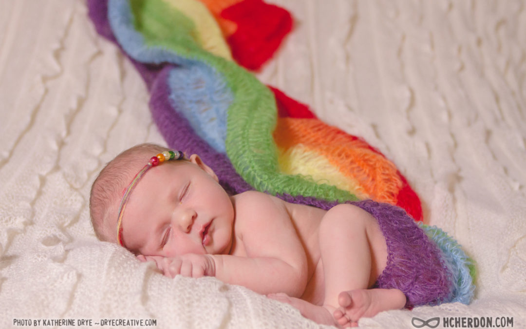 Ixchel Cherandon's Newborn Rainbow Photo Shoot