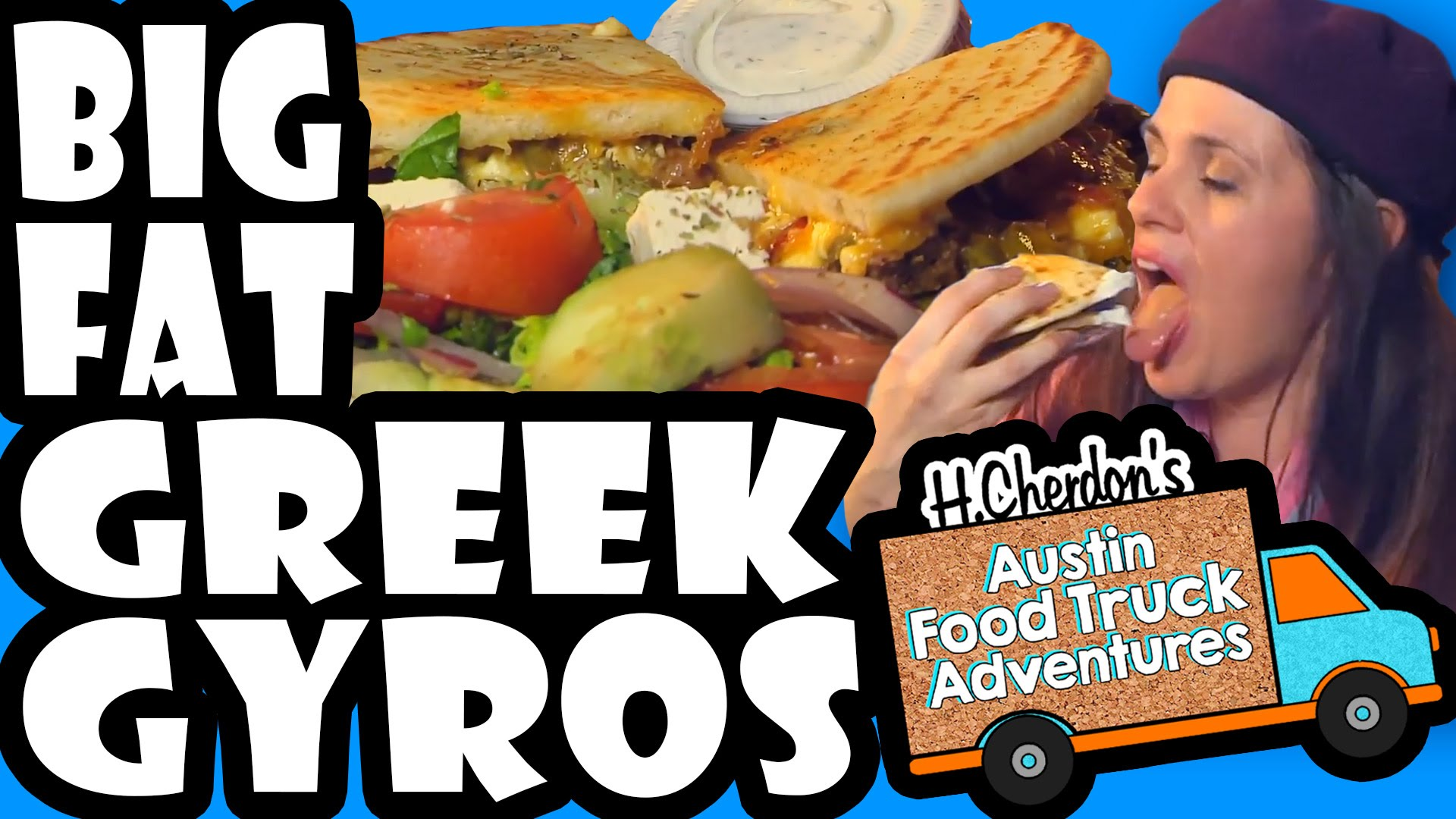 Big Fat Greek Gyros, Halal Sandwich, Tzatziki, Greek Salad, H.Cherdon's Austin Food Truck Adventures, S2 Trucklandia
