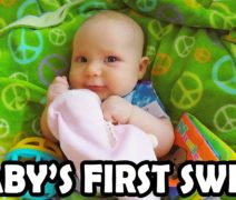 11 Month Old Ixchel Reacts to Her Swing (Babycam)