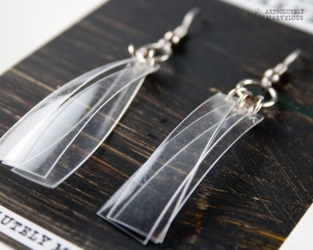 Clear Jingle Strips Earrings – $14.99