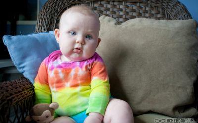5 Month Old Rainbow Baby