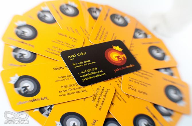 Jack Stallion Media Logo & Business Card Design