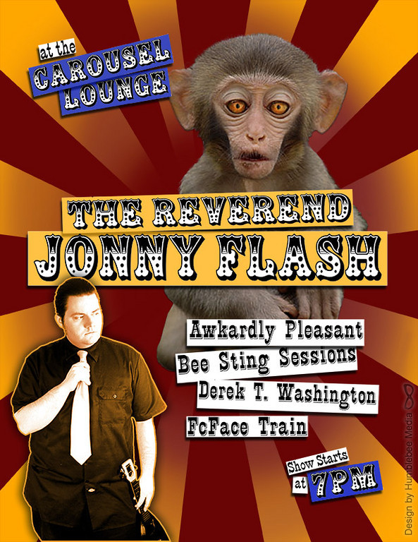 Music Event Flyer for The Reverend Jonny Flash