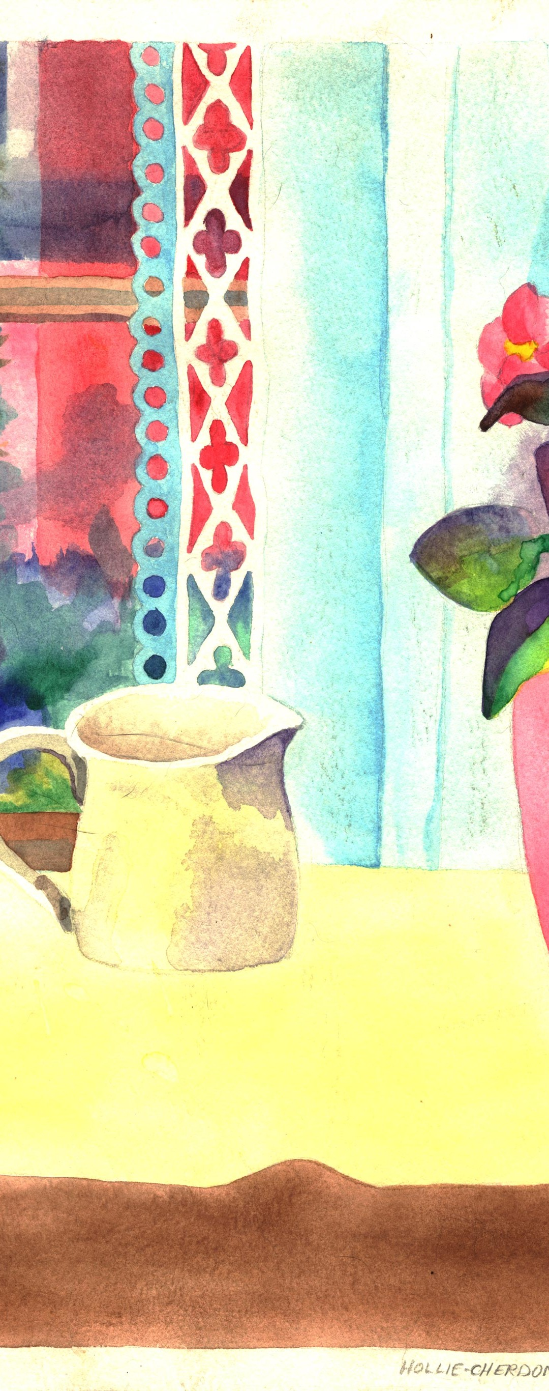 Window Cup Watercolor Painting